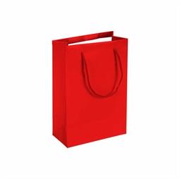 Resim Kırmızı Karton Çanta 14x17cm 25 Ad