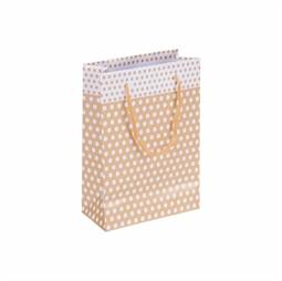 Resim Altın Puantiyeli Karton Çanta 14x17cm 25'li
